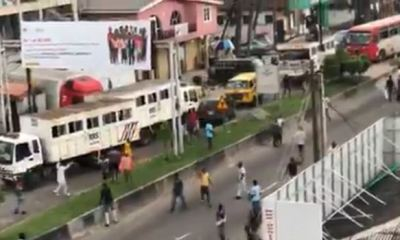 Suspected hoodlums attack, destroy RRS vehicles in Lagos (Video)
