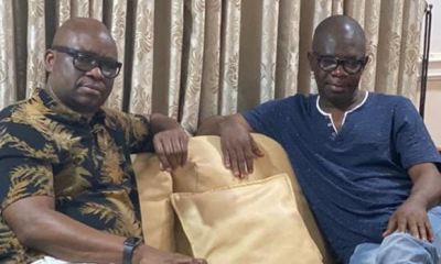 'Put the past behind you, return to PDP,' Fayose urges Ondo deputy gov, Ajayi