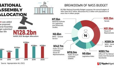 RipplesMetrics: For an average Nigerian, it'll take 69 years to earn a Senator's one month salary in 2021