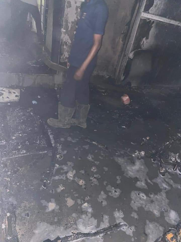 Sunday Igboho's Ibadan house reportedly set on fire (photos and video)