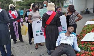 Calabar Magistrate slumps while protesting two 2 years unpaid salaries