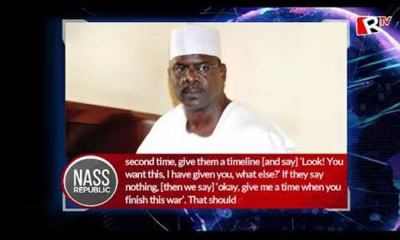 NASS REPUBLIC: Ndume's exhortations
