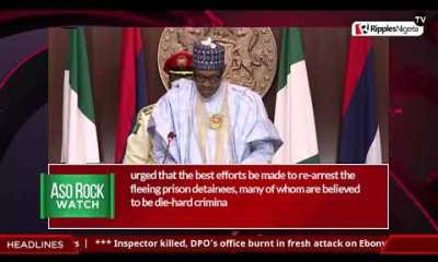 ASO ROCK WATCH: Buhari on Imo terrorists