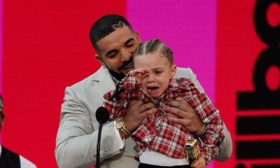 Drake brings son on stage to accept Billboard Award for Artiste of the Decade