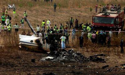 scene of plane crash that killed COAS, Attahiru
