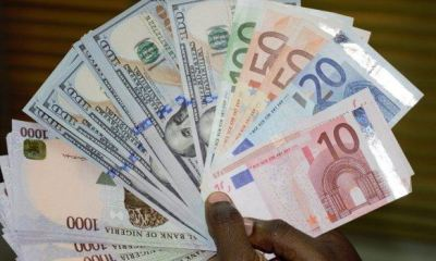 Naira closes Monday trade strong against UK pound, Euro