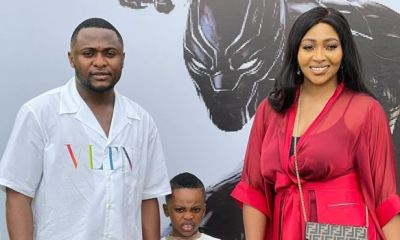 Music executive Ubi Franklin, ex-wife Lilian Esoro put differences aside to celebrate 5-year-old son