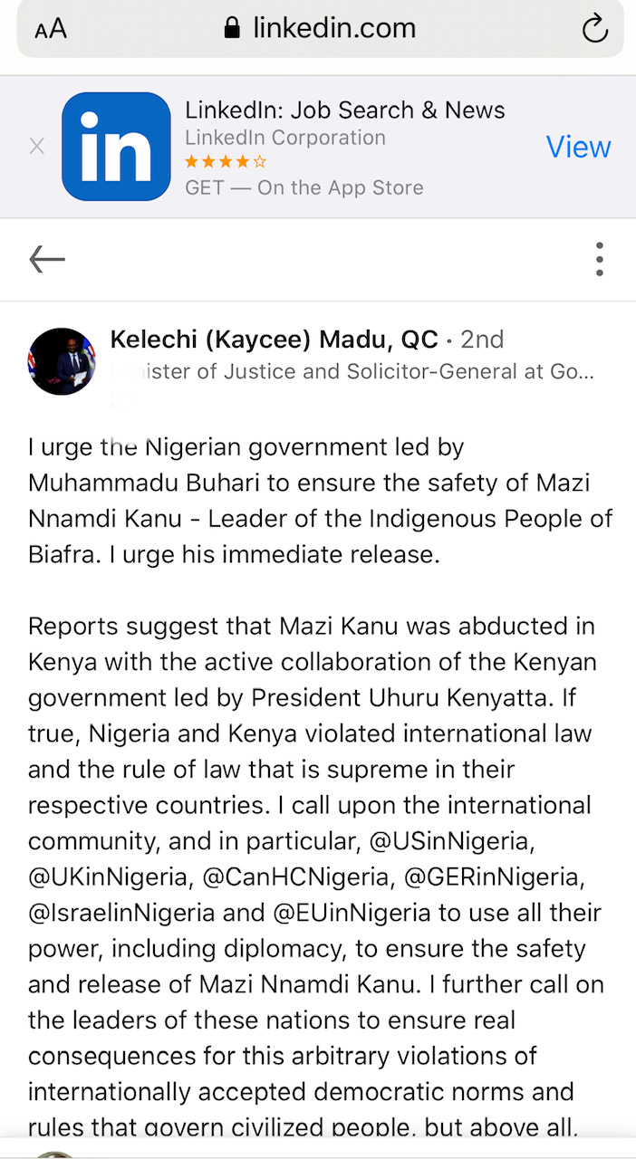 FACT CHECK: Did a Canadian minister of Justice actually describe Nigeria's AGF, Malami, as a disgrace to the Rule of Law?