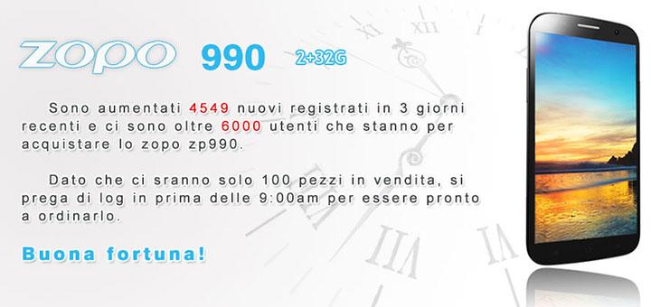 ZOPO P990 Captain S a 119 Euro + 22 S.S. (aggiornato)