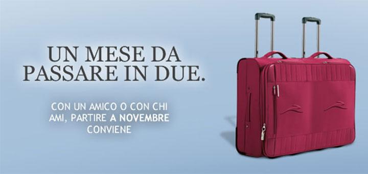 Italo: il secondo passeggero paga la metà