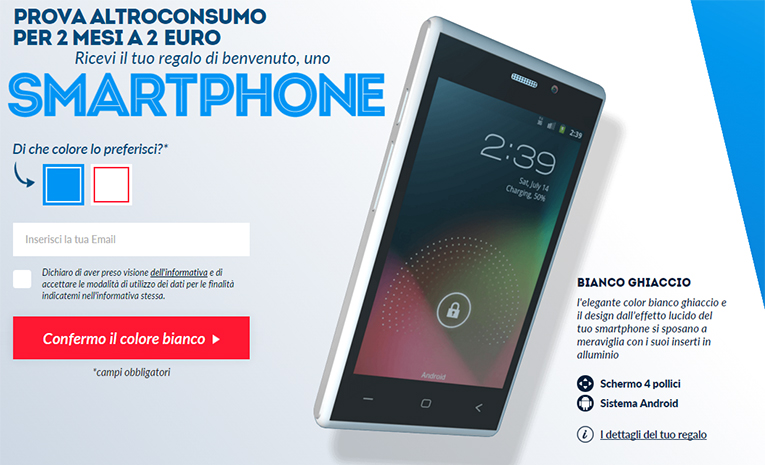 #backinthedays Smartphone Android a 2 Euro con Altroconsumo