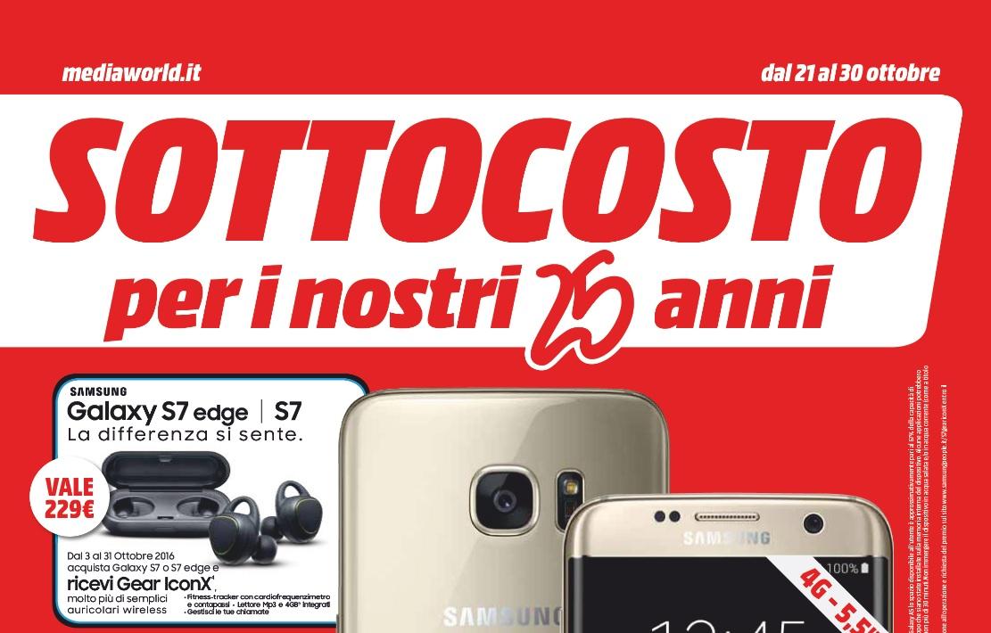 Volantino Sottocosto Media World valido dal 21 al 30 ottobre: TV Led 4K 49″ Samsung Curvo a 569€ – PS4 Slim + PES + DS4 a 299€