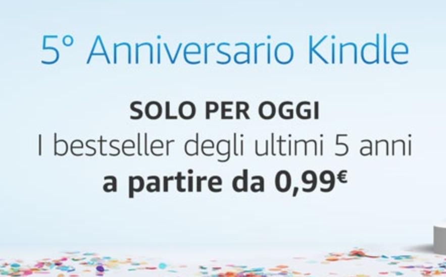 eBook a partire da 0,99 Euro in occasione del quinto anniversario Kindle