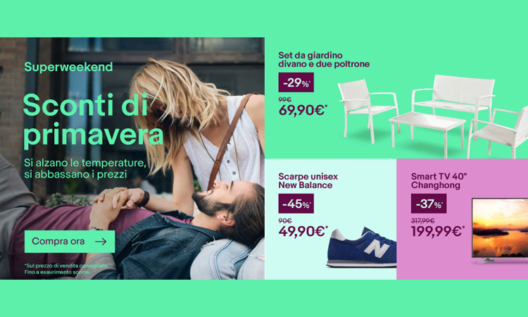 Super Weekend eBay: SmartTV 40″ 199€ – iPhone 7 599€ – New Balance 49€ – HD Toshiba 1tb 44€ – Notebook Acer 199€ – Bundle PS4 da 309€