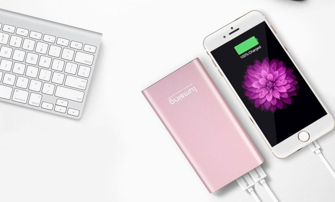 Powerbank Lumsing 12000mAh a 10,40€ – Caricatore 5 Porte USB 40W 8A a 6,40€ con codice sconto