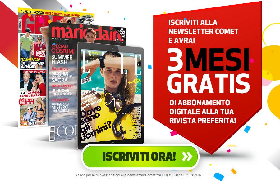 3 mesi di abbonamento digitale per varie riviste gratis con Comet