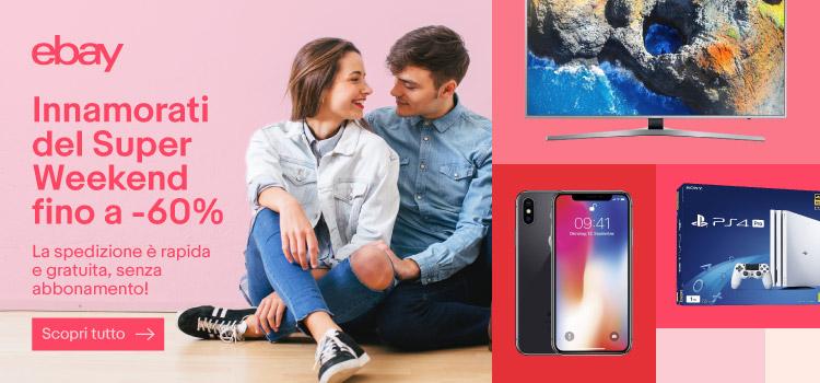 Super Weekend eBay: Airpods 149€ – Beats 79€ – iPhone X da 939€ – iPhone 8 da 659€ – TV 4K 49″/55″ 399€/499€ – Xbox One X 419€ – DS4 39€