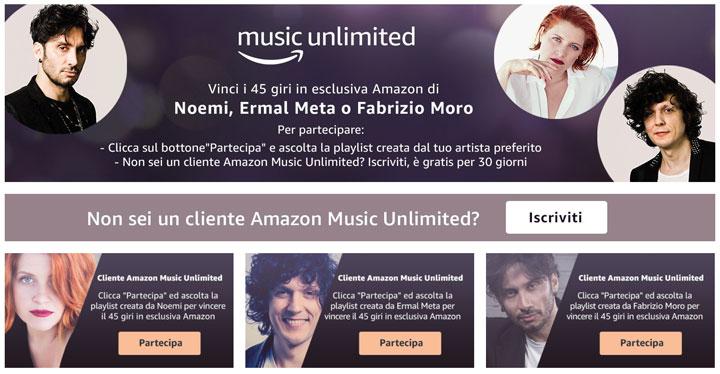 Sanremo – Vinci i 45 giri autografati in Esclusiva Amazon con Music Unlimited