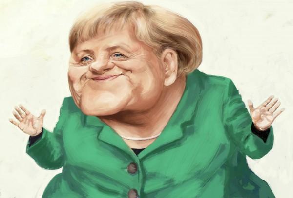 Resultado de imagen para Caricatura de la Merkel