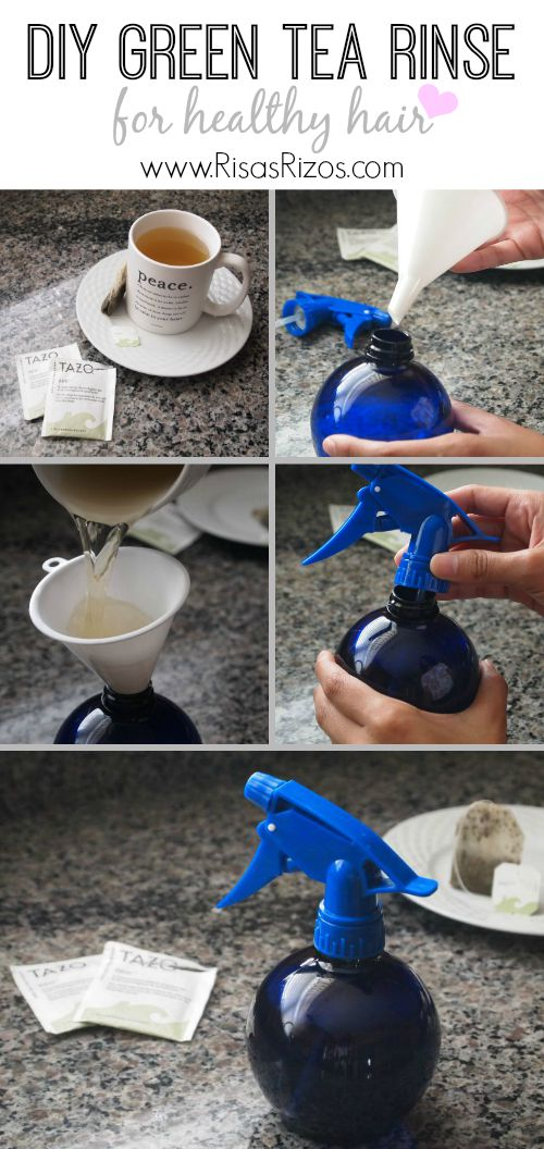 Learn to make your own DIY Green Tea Rinse for healthier naturally curly hair