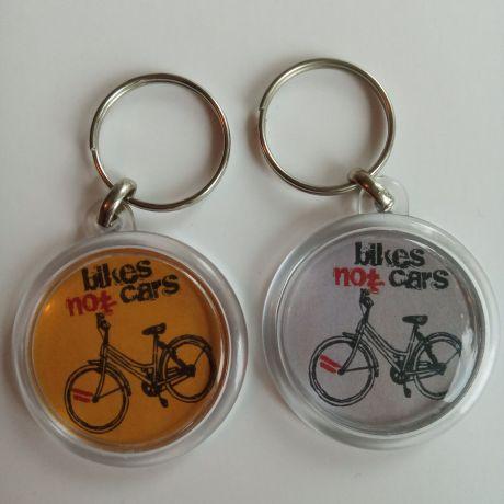 bikes not cars key rings