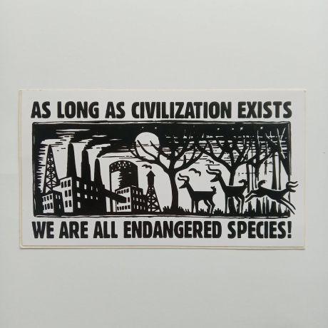 endangered species sticker
