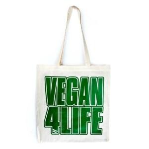 vegan 4 life tote bag