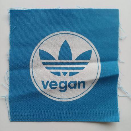 vegan blue patch