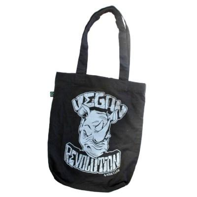 vegan revolution rhino tote bag