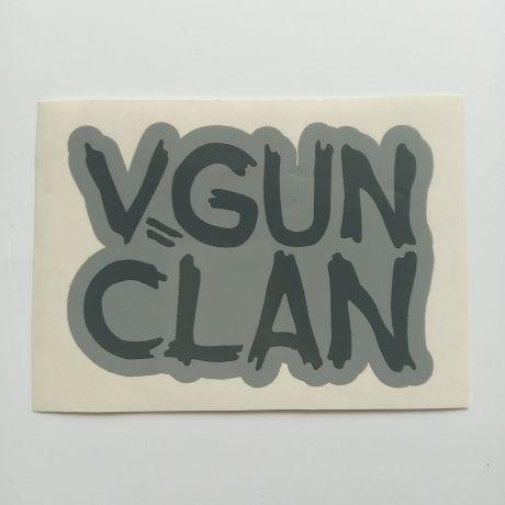vgun clan custom cut sticker