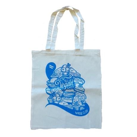 yes it's vegan tote bag blue