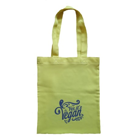 yes it's vegan tote bag yellow black