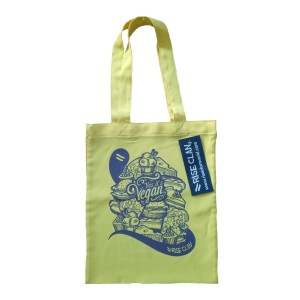 yes it's vegan tote bag yellow front