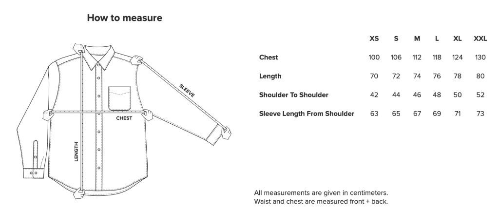 Shirt how to measure