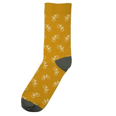 bikes socks golden yellow 1