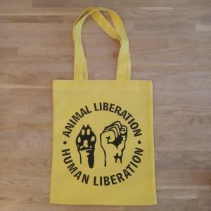 ALHL yellow tote bag