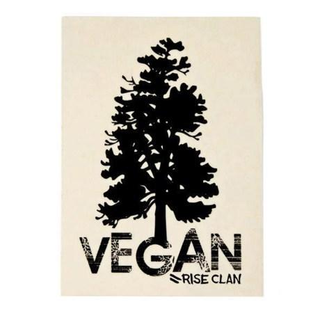 vegan tree white sticker