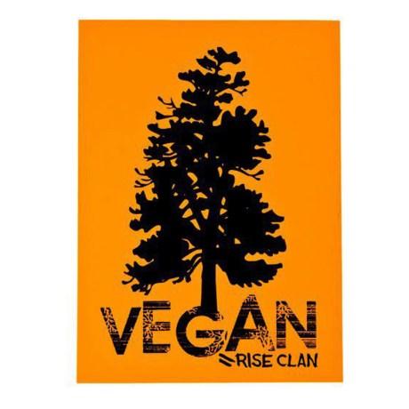 vegan tree yellow sticker