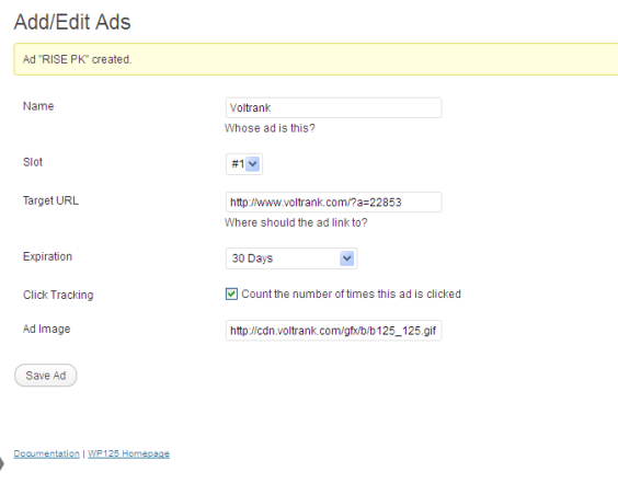 Add / Edit Ads