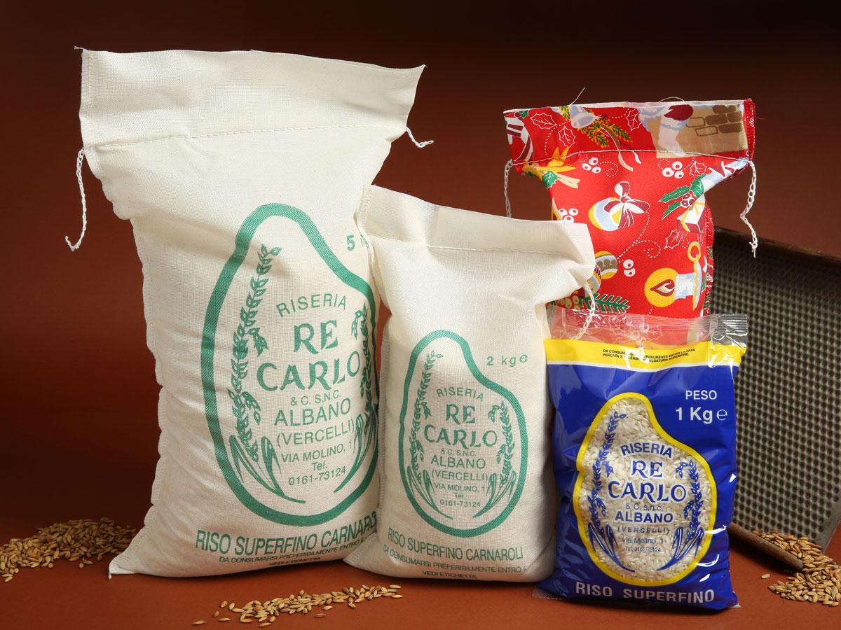 Riseria Re Carlo - Riso superfino Carnaroli - l'autentico riso vercellese di qualità - confezioni da 1kg, 2kg, 5kg e natalizie