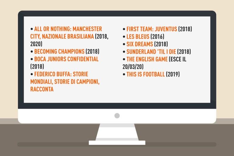 migliori serie tv documentari calcio riserva di lusso