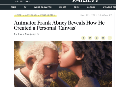 Variety: Animator Frank Abney Reveals How He Created a Personal 'Canvas'