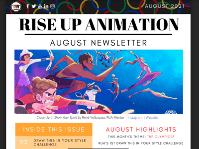 Rise Up Animation August 2021 Newsletter