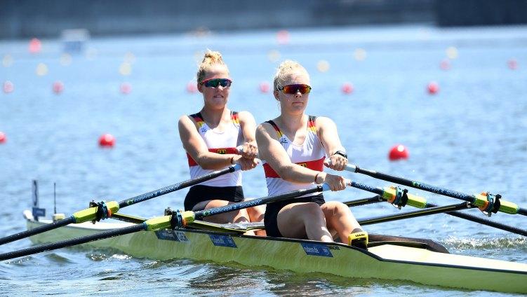 Junioren-WM 2019, Doppelzweier mit Judith Guhse (r). Foto: DRV/D. Seyb