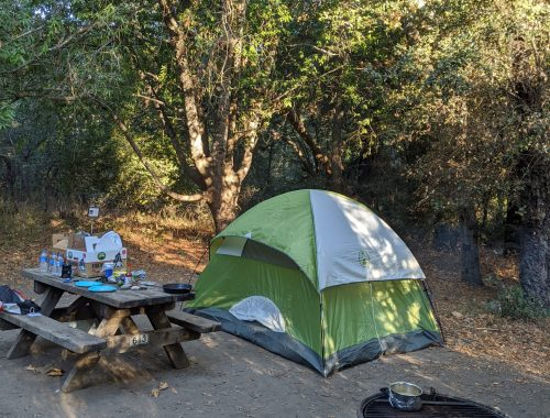 Beginner camping in the bay area
