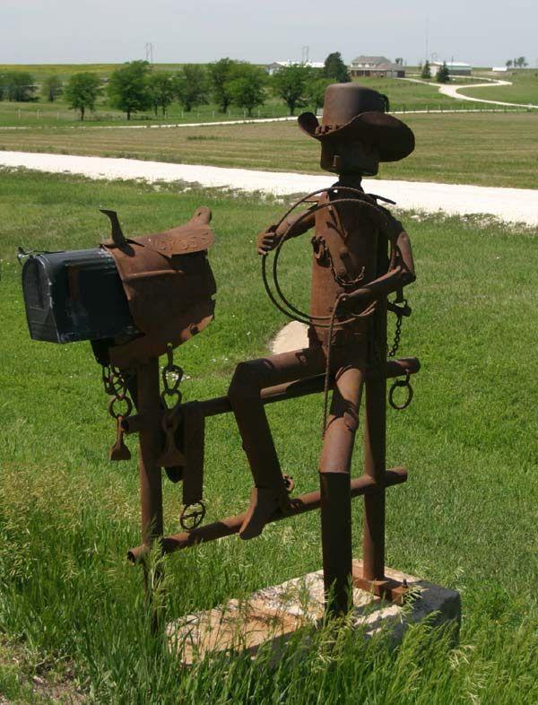 PEI cowboy mailbox