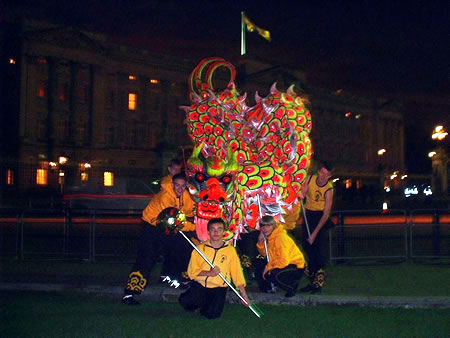 A chinese dragon dancing troupe from Nam Yang
