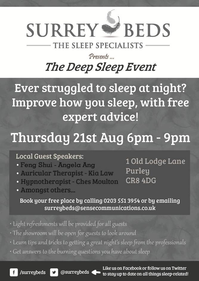 Surrey Beds Sleep Seminar