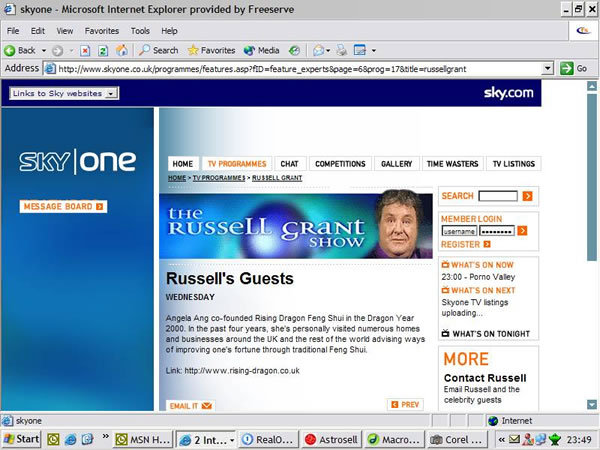 The Russell Grant Show on Sky TV