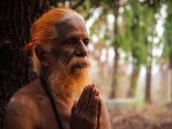 An Indian holy man or yogi